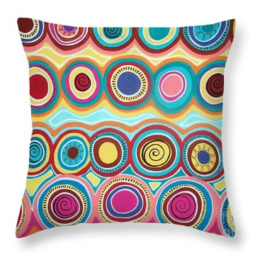 Dream Circles Throw Pillow by Karla Gerard