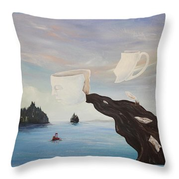 Dream Commute Throw Pillow