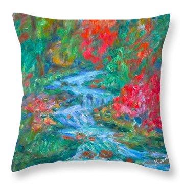 Dream Creek Throw Pillow by Kendall Kessler