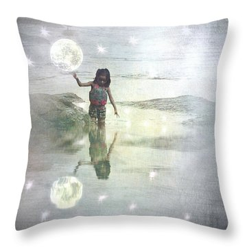 To Touch The Moon Throw Pillow