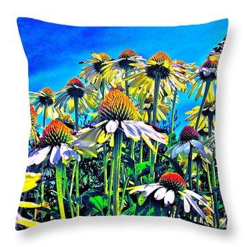 Dream Field Throw Pillow by Gwyn Newcombe