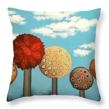 Dream Grove Throw Pillow by Graciela Bello