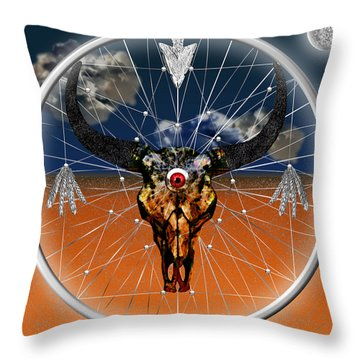 Throw Pillow featuring the digital art Dream Guardian by Iowan Stone-Flowers