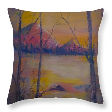 Dream Haze Throw Pillow