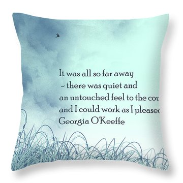 Dream Home Throw Pillow by Trilby Cole