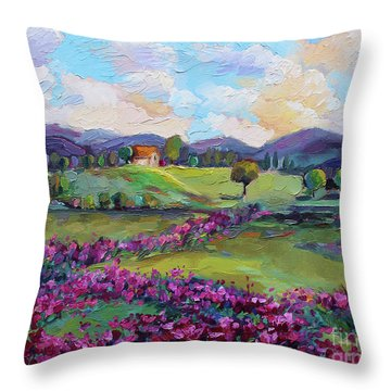 Throw Pillow featuring the painting Dream In Color by Jennifer Beaudet