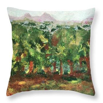 Dream In Green Throw Pillow