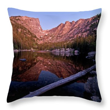Throw Pillow featuring the photograph Dream Lake by Gary Lengyel