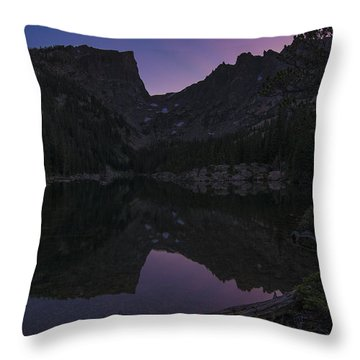 Throw Pillow featuring the photograph Dream Lake Reflections by Gary Lengyel