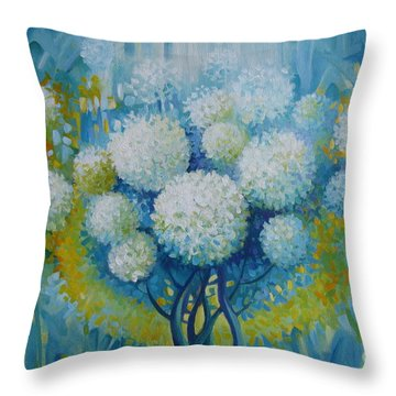 Throw Pillow featuring the painting Dream Land by Elena Oleniuc