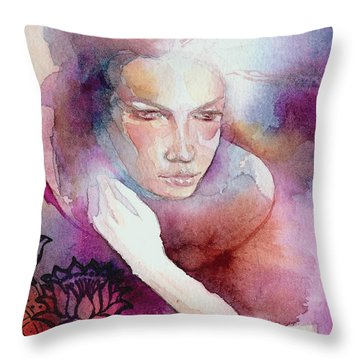 Dream Lotus Throw Pillow
