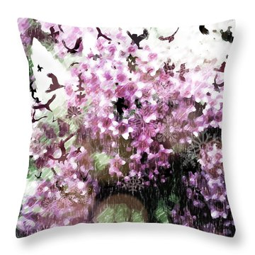 Throw Pillow featuring the photograph Dream Of Pink Spirea by Ronda Broatch