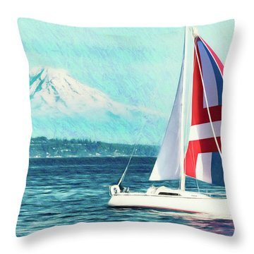 Dream Of Sailing Throw Pillow