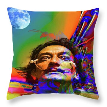 Dream Of Salvador Dali Throw Pillow by Matthew Lacey