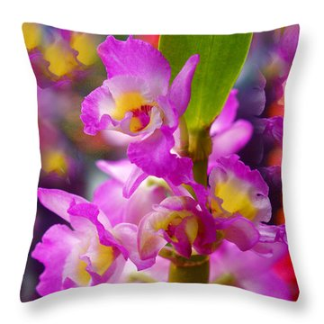 Throw Pillow featuring the photograph Dream Of Spring by Byron Varvarigos