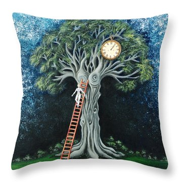 Dream Of The Clock Throw Pillow