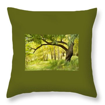 Dream On Throw Pillow by Carol Crisafi