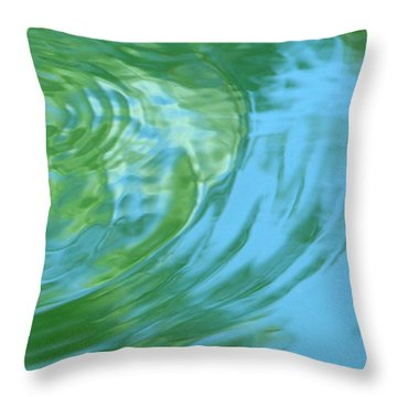 Dream Pool Throw Pillow by Donna Blackhall