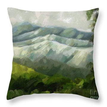 Dream Scape Throw Pillow by Carrie Joy Byrnes