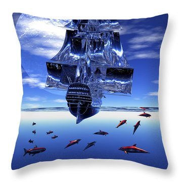 Dream Sea Voyager Throw Pillow