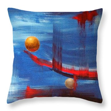Throw Pillow featuring the painting Dream Ship by Arturas Slapsys
