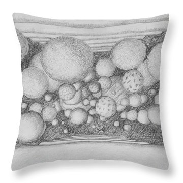 Throw Pillow featuring the drawing Dream Spirits by Charles Bates