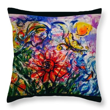 Dream Story Throw Pillow by Hae Kim