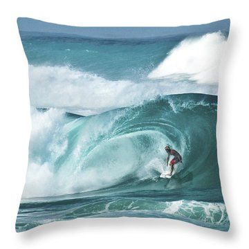 Dream Surf Throw Pillow by Steven Sparks