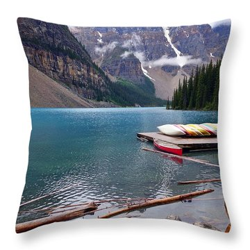 Moraine Lake, Ab  Throw Pillow