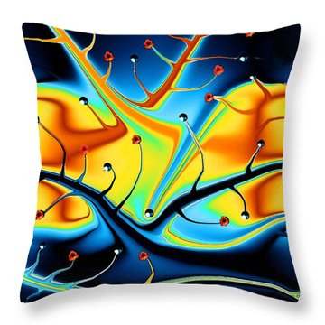 Dream Tree Throw Pillow by Robin Monroe