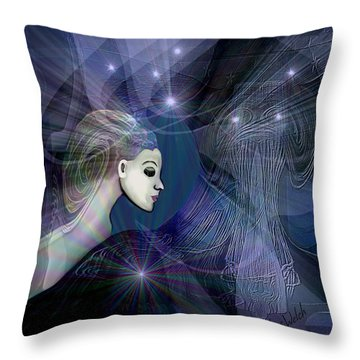 Throw Pillow featuring the digital art 1101 - Dream Voyage - 2017 by Irmgard Schoendorf Welch
