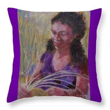 Throw Pillow featuring the painting Dream Weaver by Gertrude Palmer
