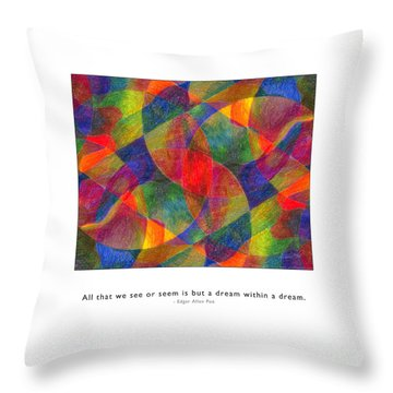 Throw Pillow featuring the photograph Dream Within A Dream by Kristen Fox