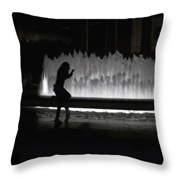 Dreamer At The Met Throw Pillow