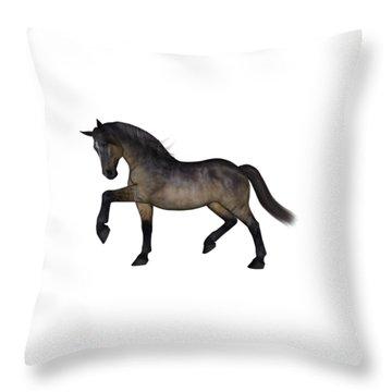 Blood Bay Horse Throw Pillows