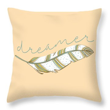 Throw Pillow featuring the digital art Dreamer by Heather Applegate