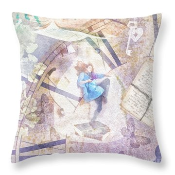 Dreamer Throw Pillow by Mo T