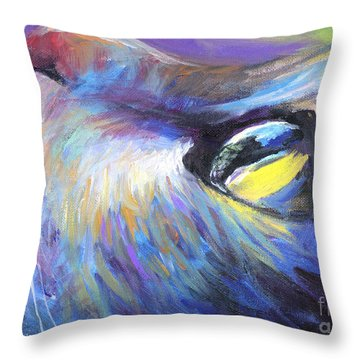 Dreamer Tubby Cat Painting Throw Pillow