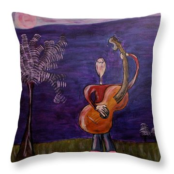 Throw Pillow featuring the painting Dreamers 13-001 by Mario Perron