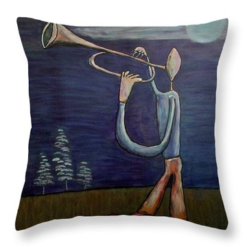Throw Pillow featuring the painting Dreamers 13-002 by Mario Perron