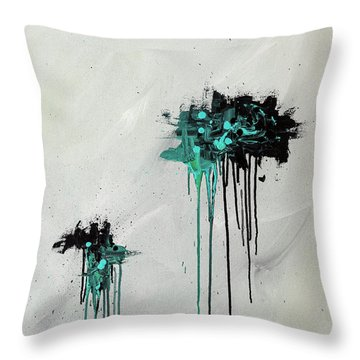 Throw Pillow featuring the painting Dreamers by Carmen Guedez