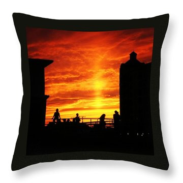 Dreaming About Summer Throw Pillow by Lauren Fitzpatrick