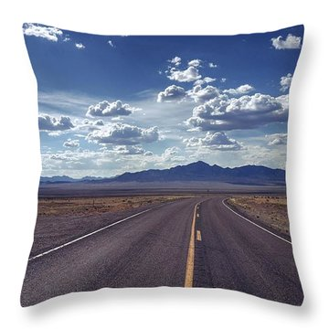 Dreaming About The Extraterrestrial Highway Throw Pillow