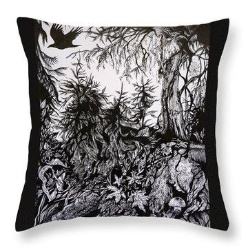 Dreaming Alaska.part One Throw Pillow by Anna  Duyunova