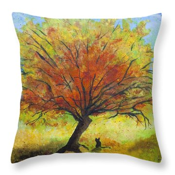 Dreaming Amber Throw Pillow