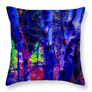 Dreaming Aspens Throw Pillow by Jennifer Lake