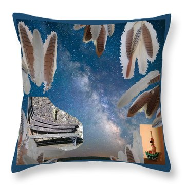 Dreaming Bench Throw Pillow