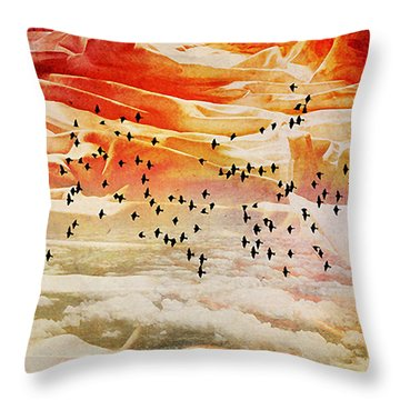Dreaming Between The Sheets Throw Pillow by Ann Tracy