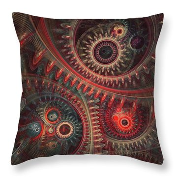 Dreaming Clocksmith Throw Pillow