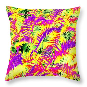 Dreaming Ferns Throw Pillow
